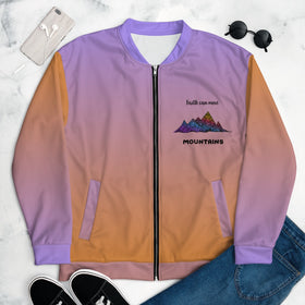 Faith Can Move Mountains All-Over Print Unisex Bomber Jacket