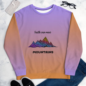 Faith Can Move Mountains All-Over Print Unisex Sweatshirt