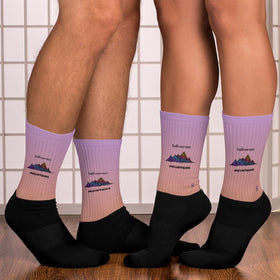 Faith Can Move Mountains Black Foot Sublimated Socks