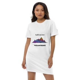 Faith Can Move Mountains Organic Cotton T-Shirt Dress - Stanley/Stella STDW144
