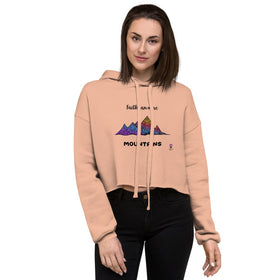 Faith Can Move Mountains Women's Crop Hoodie - Bella+Canvas 7502