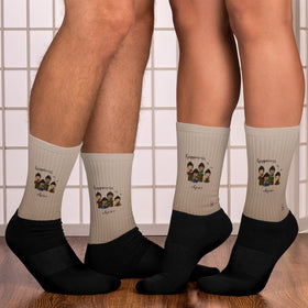 Happiness Is A Choice Black Foot Sublimated Socks