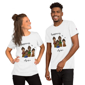 Happiness Is A Choice Unisex Premium T-Shirt - Bella+Canvas 3001