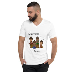Happiness Is A Choice Unisex V-Neck T-Shirt - Bella+Canvas 3005