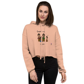 Happiness Is A Choice Women's Crop Hoodie - Bella+Canvas 7502