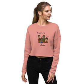 Happiness Is A Choice Women's Crop Sweatshirt - Bella+Canvas 7503