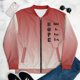 HOPE Hold On Pain Ends All-Over Print Unisex Bomber Jacket