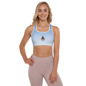 Inhale Courage Exhale Fear All-Over Print Padded Sports Bra