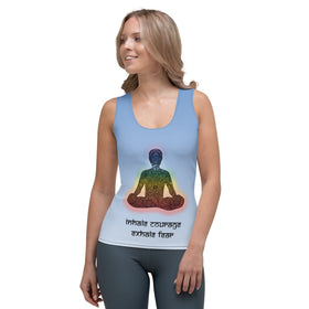 Inhale Courage Exhale Fear All-Over Print Women's Tank Top