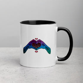 It's Okay To Reach Out For Help White Ceramic Mug With Color Inside