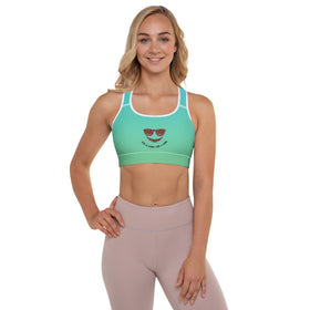 Life Is Better With A Smile All-Over Print Padded Sports Bra