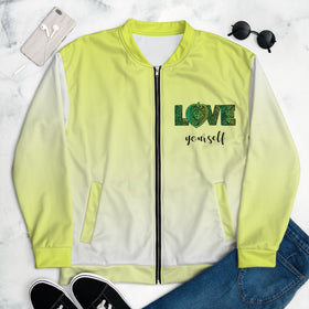 Love Yourself All-Over Print Unisex Bomber Jacket