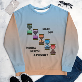 Make Our Mental Health A Priority All-Over Print Unisex Sweatshirt