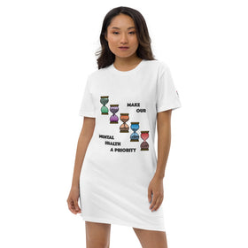 Make Our Mental Health A Priority Organic Cotton T-Shirt Dress - Stanley/Stella STDW144