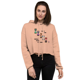 Make Our Mental Health A Priority Women's Crop Hoodie - Bella+Canvas 7502