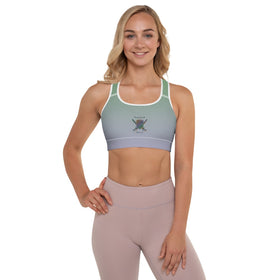 Mental Health Warrior All-Over Print Padded Sports Bra