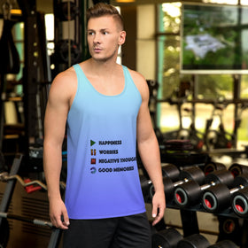 Play Pause Stop Replay All-Over Print Men's Tank Top