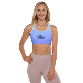 Play Pause Stop Replay All-Over Print Padded Sports Bra