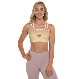 Prescribed For Us Love All-Over Print Padded Sports Bra