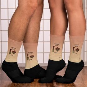 Prescribed For Us Love Black Foot Sublimated Socks