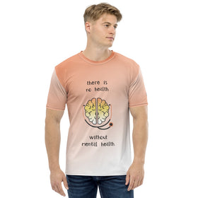 There Is No Health Without Mental Health All-Over Print Men's Crew-Neck T-Shirt