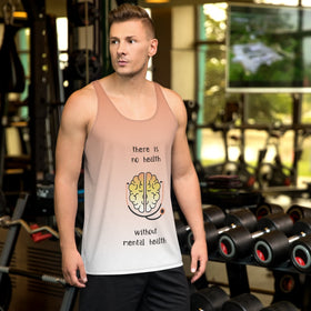 There Is No Health Without Mental Health All-Over Print Men's Tank Top