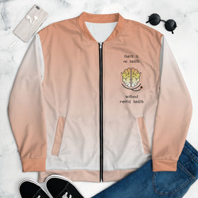 There Is No Health Without Mental Health All-Over Print Unisex Bomber Jacket