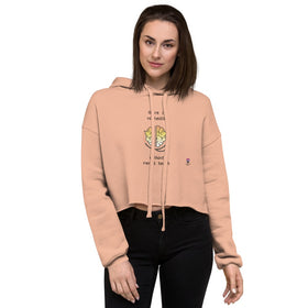 There Is No Health Without Mental Health Women's Crop Hoodie - Bella+Canvas 7502