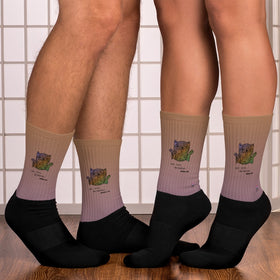Who Cares Do Better Move On Black Foot Sublimated Socks