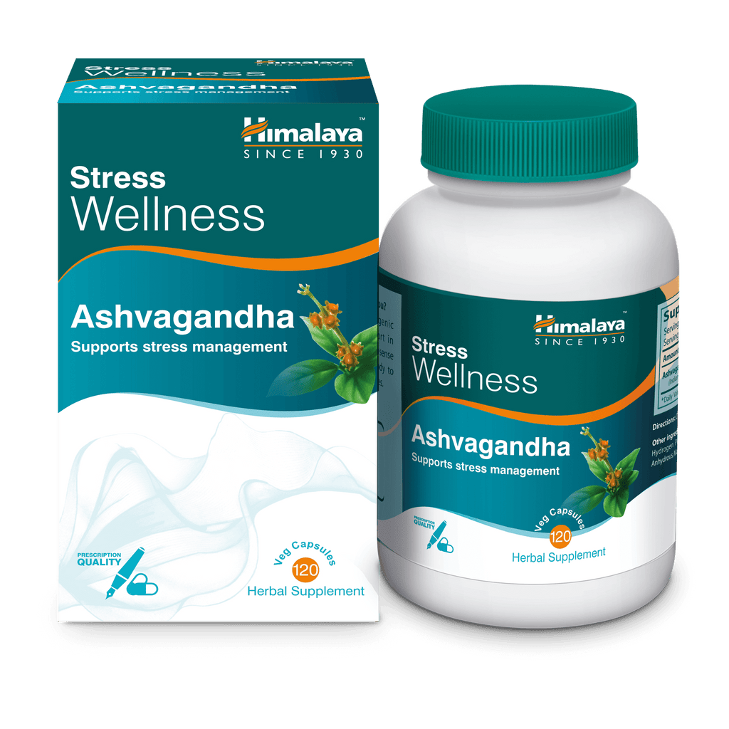 Himalaya Ashvagandha Capsules 120's - Relieve Stress Naturally