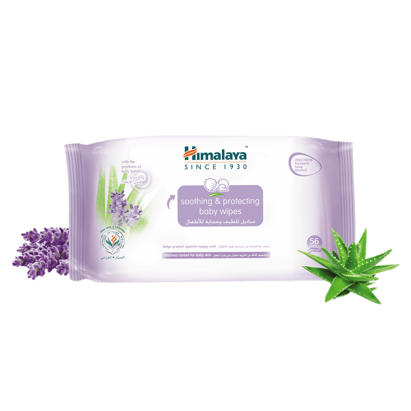 Himalaya Soothing & Protecting Baby Wipes 56Pcs - Protects Baby's Skin