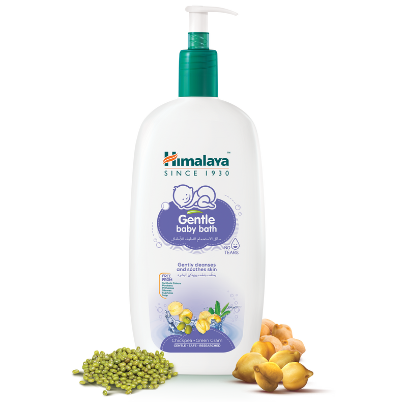Himalaya Gentle Baby Bath With Pump Dispenser 800ml - Gently Cleanses