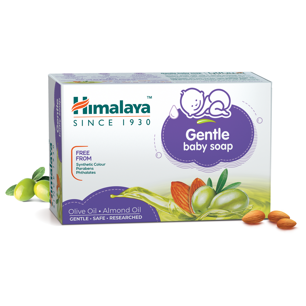 Himalaya Gentle Baby Soap With Almond 75g - Effectively Cleanses Skin