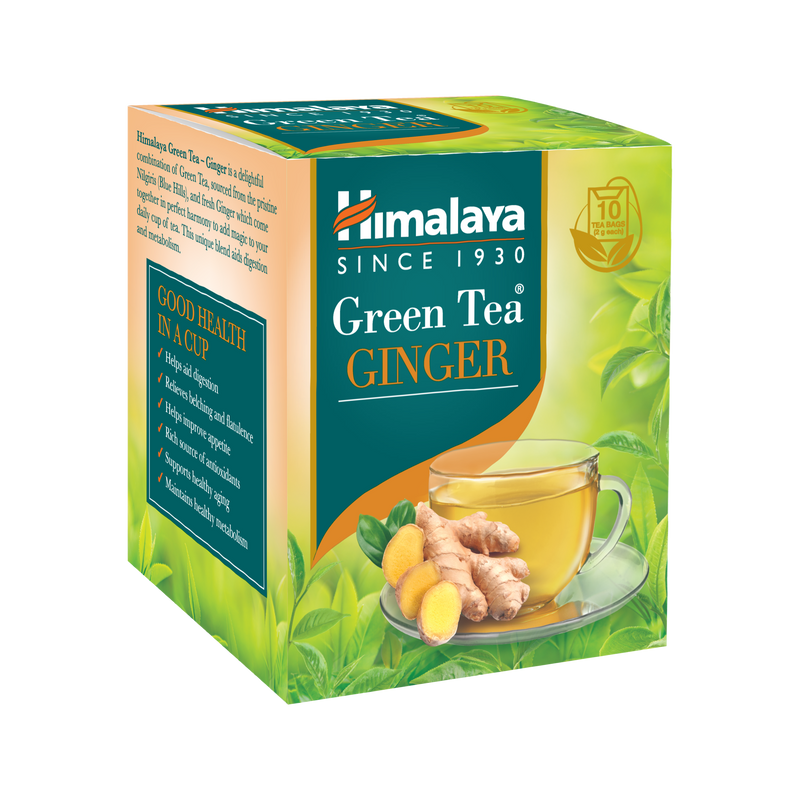 Himalaya Green Tea GINGER - Aids digestion and metabolism