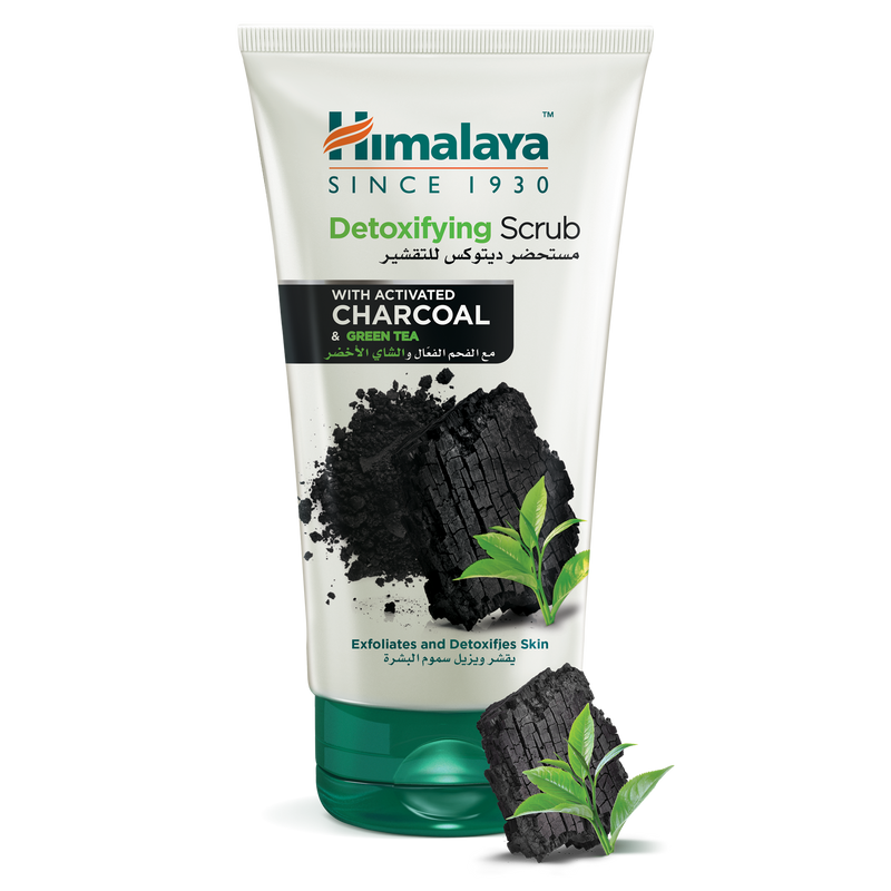 Himalaya Detoxifying Charcoal Face Scrub 150ml - Detoxifies Skin