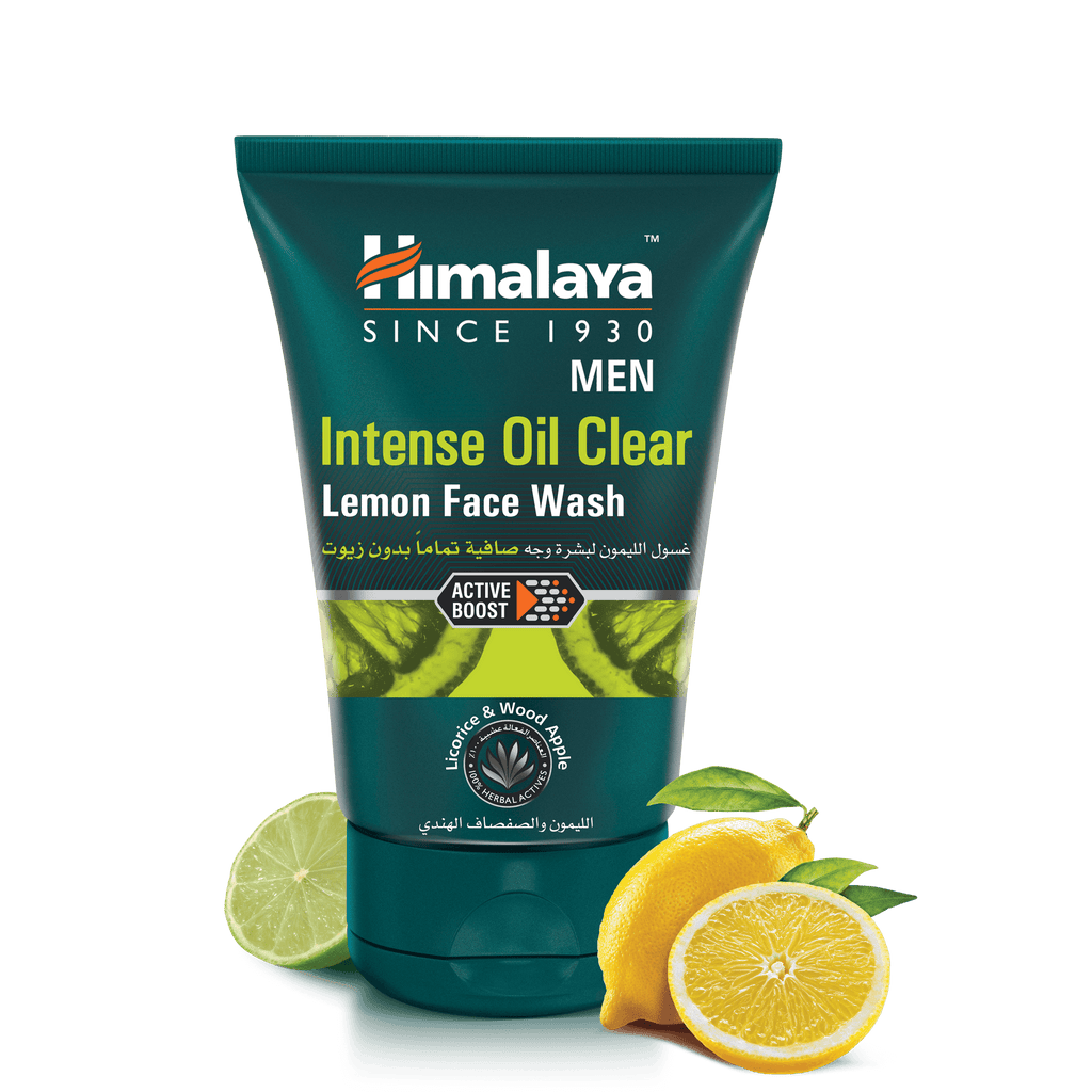 Himalaya Men Intense Oil Clear Lemon Face Wash 100ml - Oil-free Skin