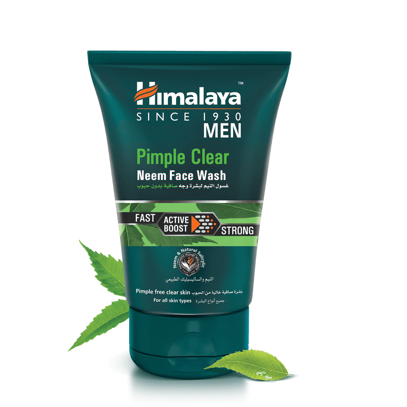 Himalaya Pimple Clear Neem Face Wash Mens 100ml - For Pimple-Free Skin