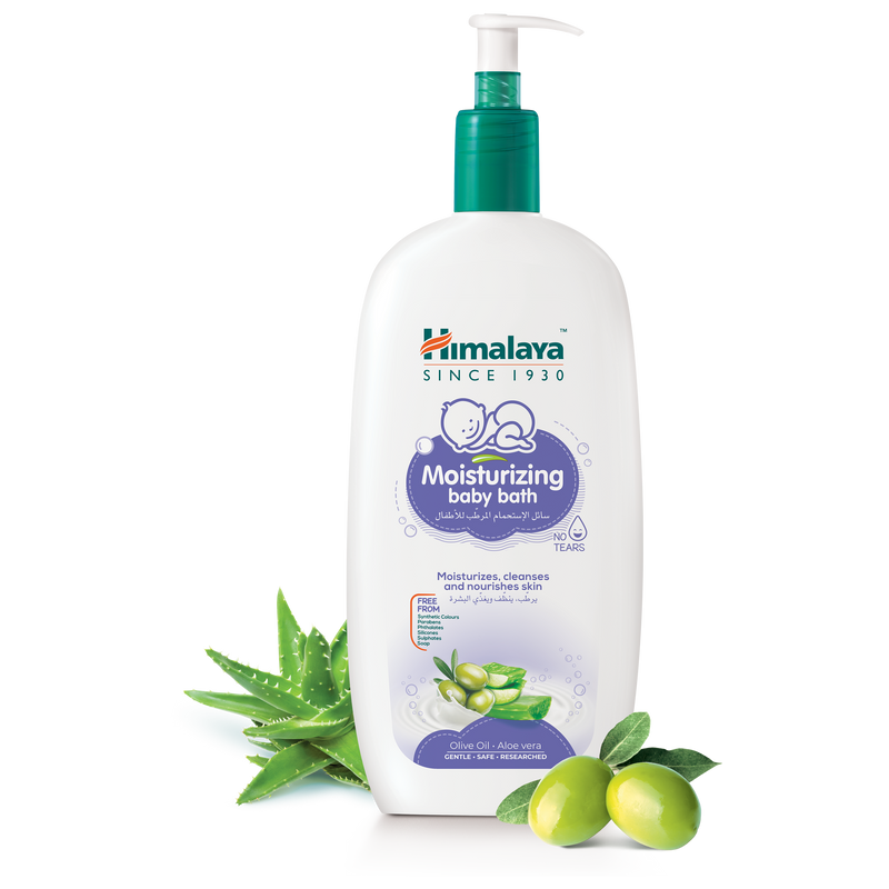 Himalaya Moisturizing Baby Bath with Pump Dispenser 800ml - Moisturize