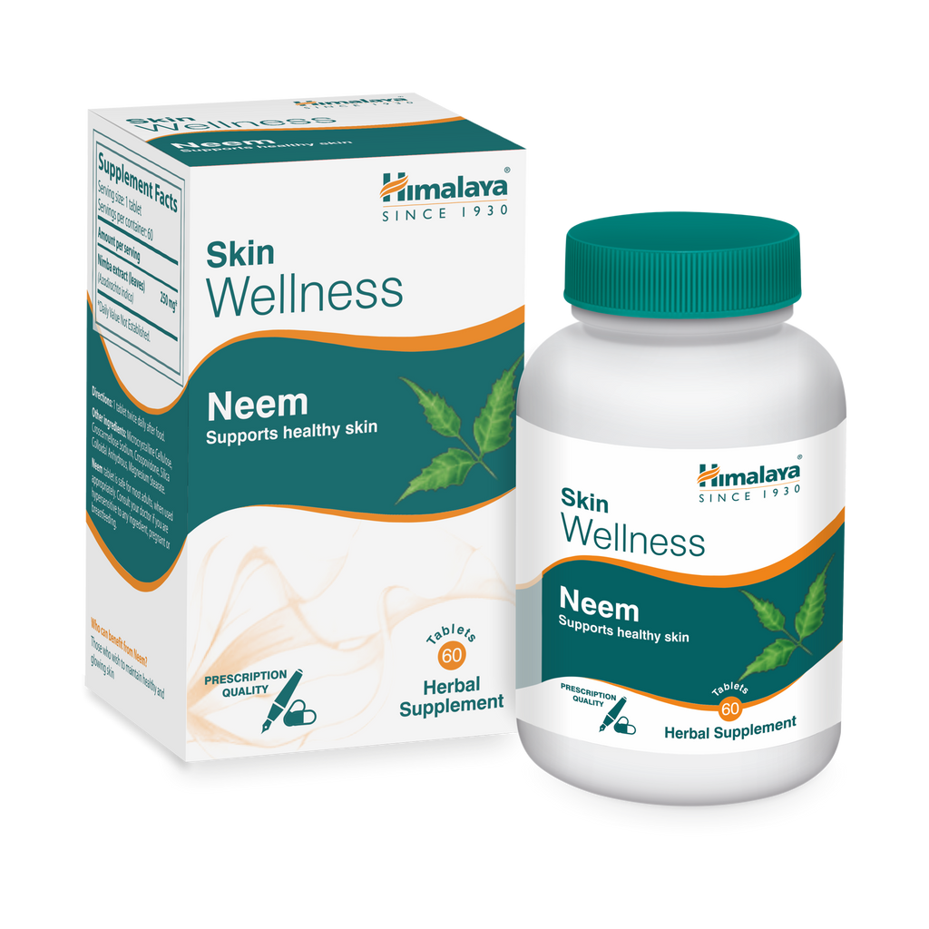Himalaya Neem Tablets 60's - Supports Healthy Skin