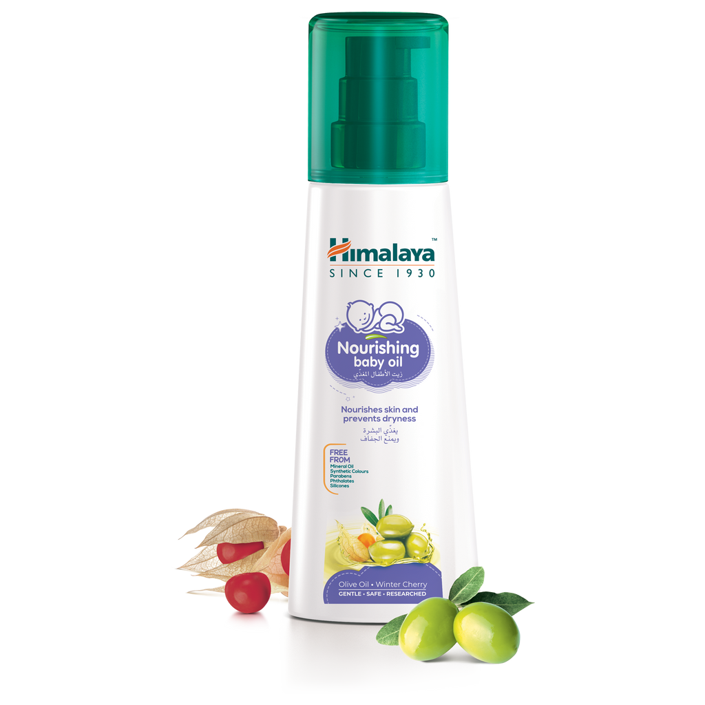 Himalaya Nourishing Baby Oil 200ml - Nourishes Skin & Prevents Dryness