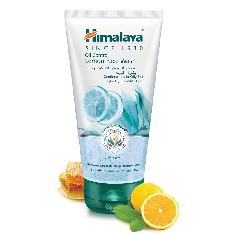 Himalaya Oil Control Lemon Face Wash 150ml - Remove Excess Oil