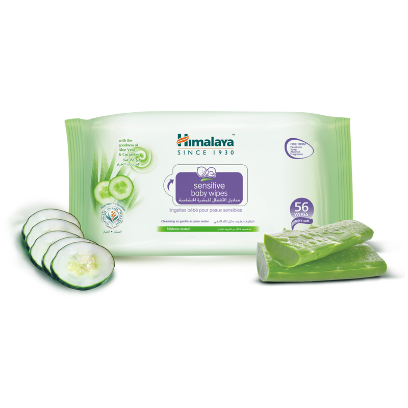 Himalaya Sensitive Baby Wipes Pack of 56 Sheets