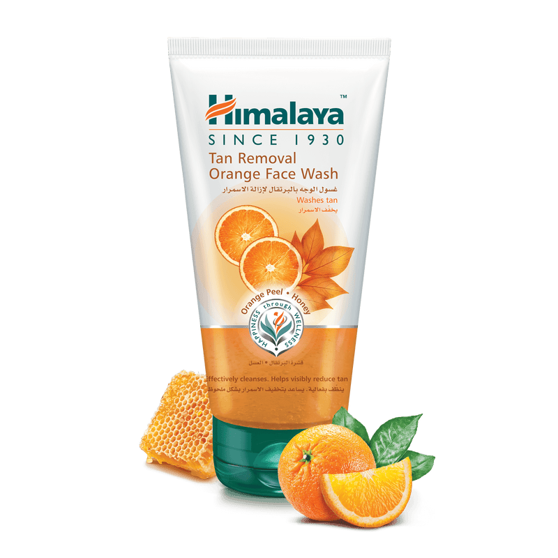 Himalaya Tan Removal Orange Facewash 150ml - Reduces Skin Tan