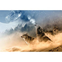 Wolf Diy Paint By Numbers Kits PBN90222