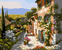 Landscape Village Diy Paint By Numbers Kits VM91377