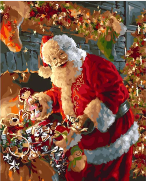 Christmas Santa Claus Diy Paint By Numbers Kits VM95507