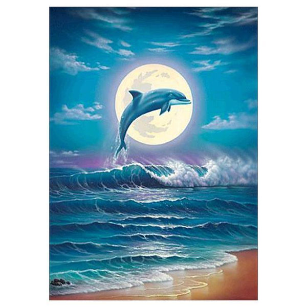 Dolphin Diy Paint By Numbers Kits QFA90006