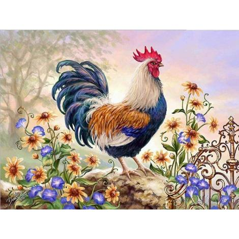 Animals Cock Diy Paint By Numbers Kits PBN91524