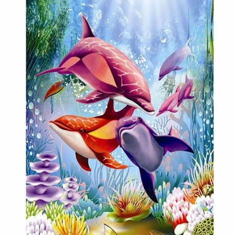 Dolphin Diy Paint By Numbers Kits PBN95585