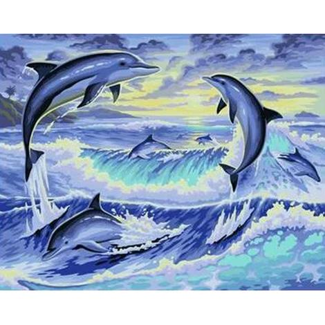 Dolphin Diy Paint By Numbers Kits PBN30246